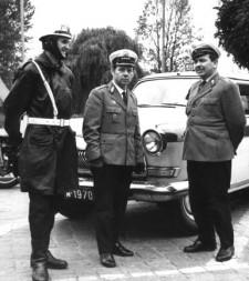 Milicjanci w latach 70. XX wieku.