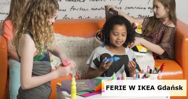Ferie w IKEA Gdańsk to bezpłatne, kreatywne zajęcia dla najmłodszych.