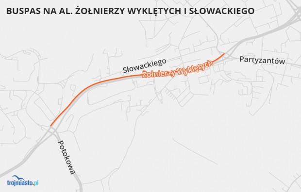 W dalszej kolejności drogowcy chcą wytyczyć pas dedykowany autobusom na al. Żołnierzy Wyklętych między Chrzanowskiego a Potokową.