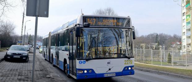 Gdynia Będzie Autobus Wewnątrz Dzielnicy