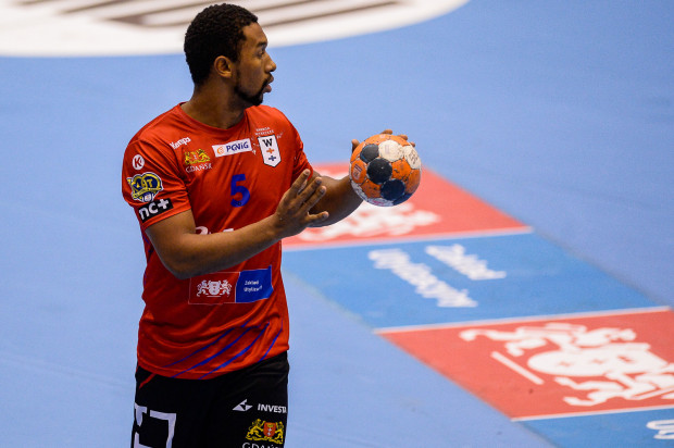 Ramon Oliveira zdobył 5 z 17 bramek Wybrzeża w meczu z Piotrkowianinem.