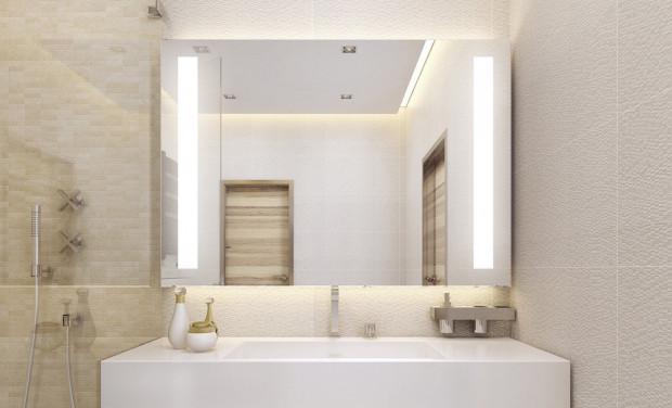 W czasie remontu warto wymienić lustra na podświetlane ledowo. Ułatwią codzienne użytkowanie łazienki i są niedrogie w eksploatacji.