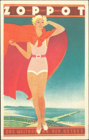 """Reklama Sopotu jako """"światowego kurortu nad Bałtykiem"""", lata 30. XX w."""