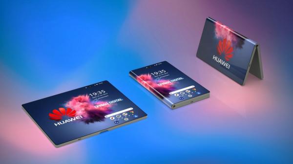 Huawei Mate X. Ekran 6,6 cali może zostać rozwinięty w 8-calowy o rozdzielczości 2480 na 1148 pikseli. Jest także możliwość korzystania z ekranu z tylnej części urządzenia w trybie smartfonowym.