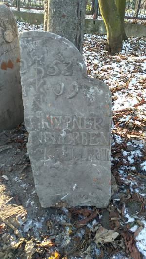 Odnaleziony na początku lutego fragment nagrobka.