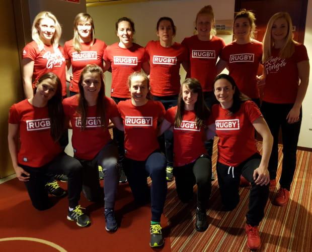 Reprezentantki Polski, w tym siedem rugbistek Biało-Zielonych Ladies Gdańsk, podczas turnieju w Szwecji.