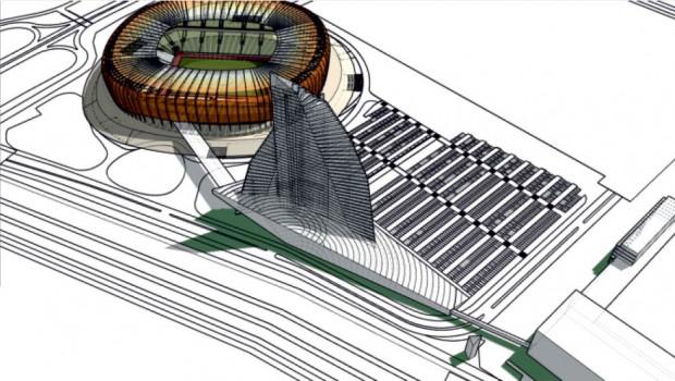 Projekt 150 metrowego budynku w kształcie żagla - to jedna z ofert przestawianych zagranicznym inwestorom na targach w Cannes.