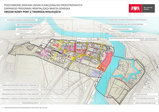 Wszystkie zmiany rewitalizacyjne zaplanowane w Nowym Porcie i jego najbliższym sąsiedztwie.