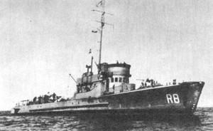 """ORP """"Rybitwa"""" na morzu."""