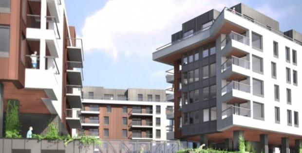 """Za projekt osiedla odpowiedzialne jest studio architektoniczne """"Kwadrat"""" z Gdyni, które w 2007 roku wygrało konkurs na koncepcje zagospodarowania tego terenu."""