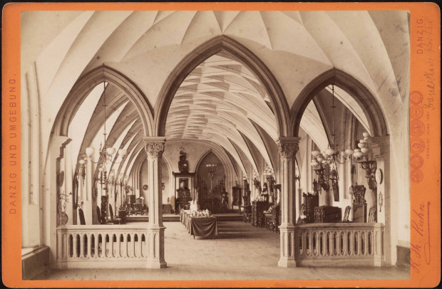 Wielki refektarz w XIX wieku.