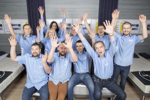 Zwycięski zespół gdańskiego sklepu Jysk Galeria Morena (na zdj.) wypoczywa obecnie w Hiszpanii.
