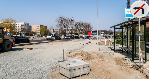 Najbardziej zaawansowane są prace na skrzyżowaniu ul. płk. Dąbka i Kwiatkowskiego.