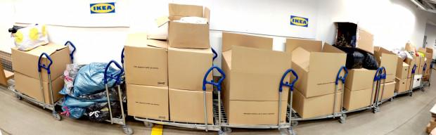 W ciągu miesiąca udało się zebrać osiem ton ubrań.