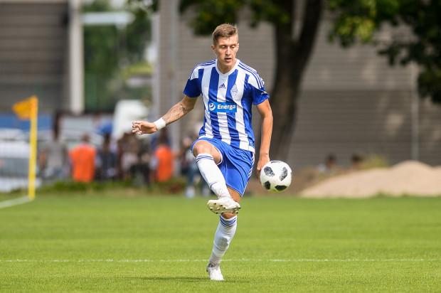 Arkadiusz Korpalski w meczu z Wierzycą Pelplin zaliczył 50. występ w barwach Bałtyku Gdynia.