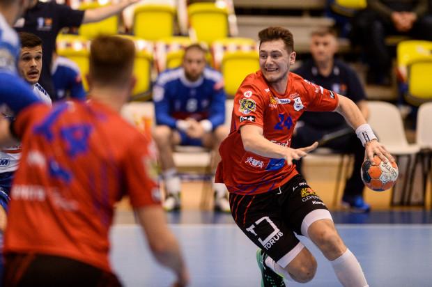 Krzysztof Komarzewski był w sobotę najaktywniejszym graczem w zespole Energi Wybrzeża Gdańsk. Zdobył 8 bramek.