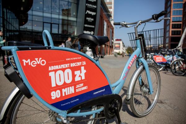 W piątek 26 kwietnia najprawdopodobniej część z użytkowników, która posiada miesięczny abonament, straci możliwość wypożyczania roweru Mevo.