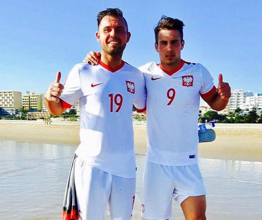 Karim Madani (z prawej) podczas zgrupowania kadry w Portugalii.