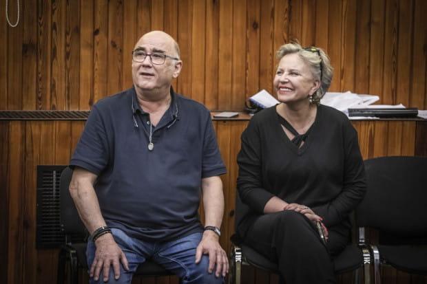 Operę reżyseruje Krystyna Janda, a do pomocy wzięła m.in. choreografa Emila Wesołowskiego (po lewej).