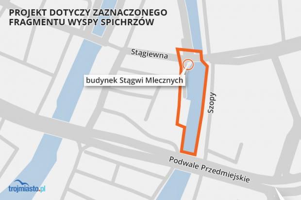 Projekt planu obejmuje teren wpisany do rejestru zabytków jako historyczny układ urbanistyczny miasta Gdańska.