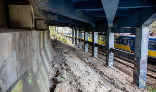 W tym miejscu przewidziano budowę przejścia pod wiaduktem.