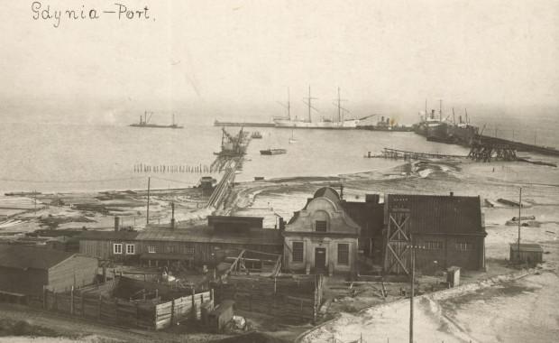 Tzw. elektrownia portowa. Zdjęcie wykonane przez Romana Morawskiego w 1925 r. Ze zbiorów Muzeum Miasta Gdyni.