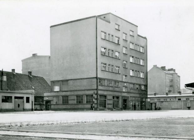 Siedziba MZE mieściła się między ul. Starowiejską a ul. 3 Maja. Zdjęcie wykonane podczas okupacji. Ze zbiorów Muzeum Miasta Gdyni.
