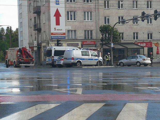 Wypadek na rogu Grunwaldzkiej i Miszewskiego