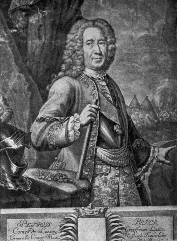 Hrabia Peter Lacy, jeden z dowódców rosyjskiej armii oblegającej Gdańsk w 1734 r.