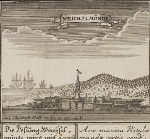 Twierdza Wisłoujście na rycinie z 1734 r.