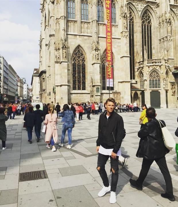 Luka Marić  (Arka) wypoczywa w Wiedniu.