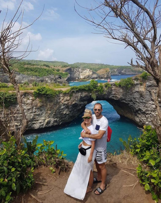 Flavio Paixao (Lechia) ze swoją partnerką na Bali.