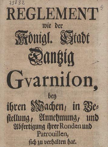 Regulamin wart i patroli z 1742 r.
