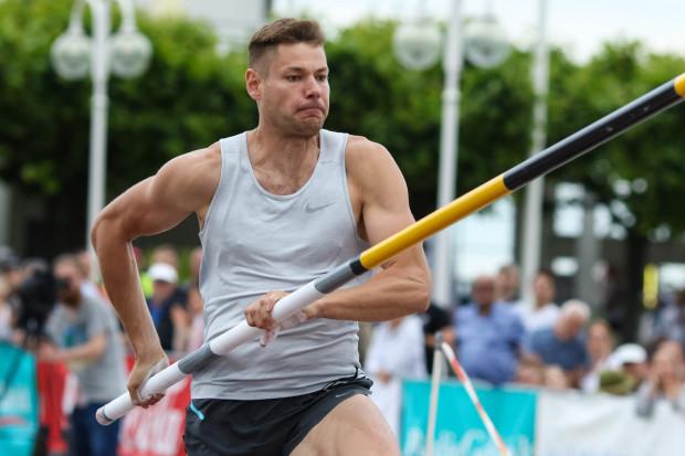 Paweł Wojciechowski (na zdjęciu) zaczął turniej w Sopocie słabiej niż Robert Sobera, ale ostatecznie to on uzyskał najlepszy wynik skacząc 5.71.