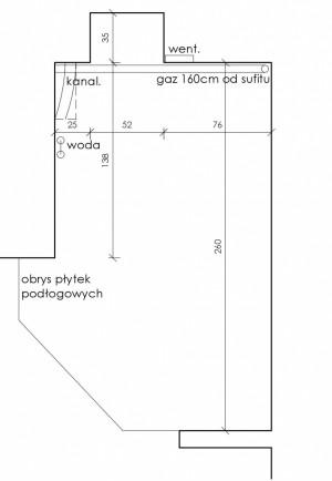 Kształt i wymiary projektowanego pomieszczenia.