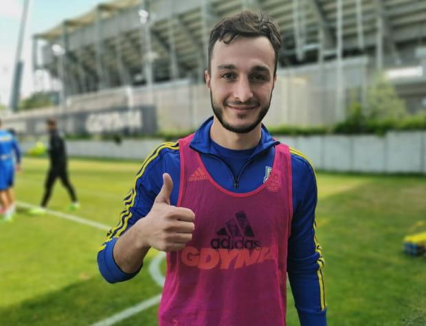 Davit Skhirtladze wziął udział we wtorek w popołudniowym treningu Arki Gdynia.