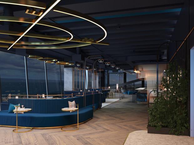 Wnętrze 32 piętra Olivii Star stylistycznie podzielone będzie na strefy w zależności od widoków rozciągających się za oknem. Aranżacja od strony Zatoki Gdańskiej nawiązywać ma do wnętrza luksusowego transatlantyku.
