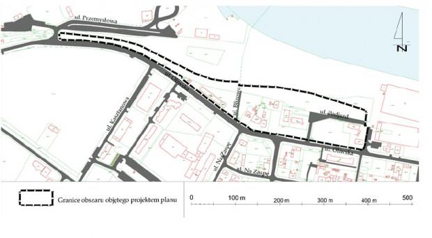 Granice planu zagospodarowania przestrzennego.