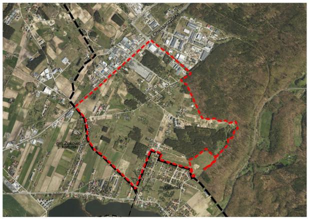 Granice zmienianego planu miejscowego