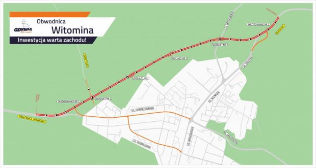 Obwodnica Witomina - planowana trasa.