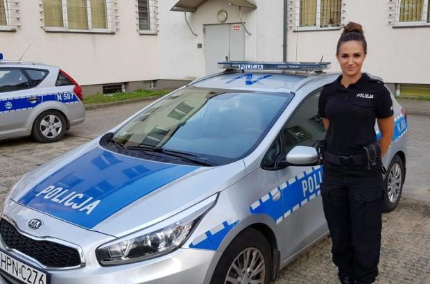 Otylia Gromek - gdańska policjantka, która odnalazła zaginioną dziewczynkę.