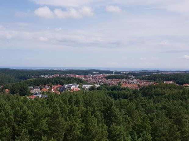 Gdyńskie osiedla widoczne z wieży widokowej Donas.