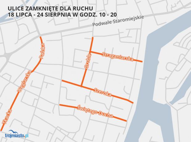 Ulice zamknięte dla ruchu od czwartku, 18 lipca