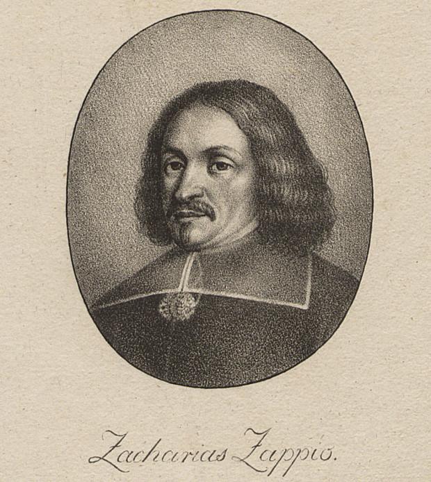Portret Zachariasza Zappio, kupca i filantropa, mecenasa kościoła św. Jana oraz założyciela dworu i parku Królewskiej Doliny w Gdańsku.