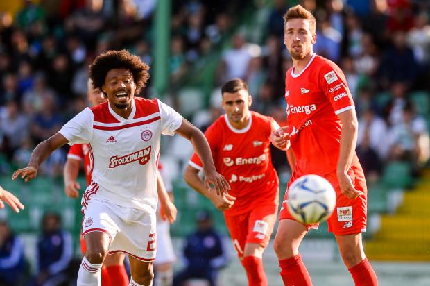 Lechia Gdańsk poznała rywala, z którym zmierzy się ewentualnie w 3. rundzie eliminacji Ligi Europy. Zdjęcie z meczu towarzyskiego z Olympiakosem Pireus.