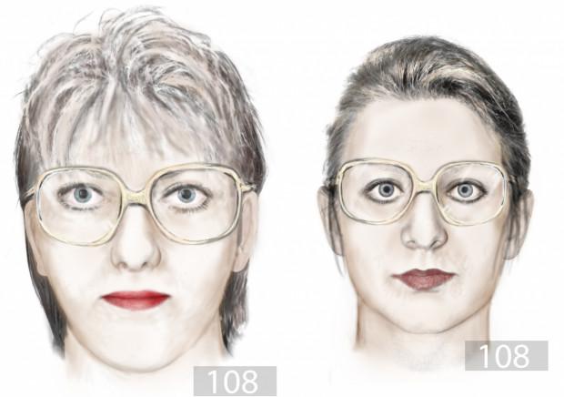 Portrety pamięciowe kobiet, które mogły mieć coś wspólnego z okradzeniem 84-letniej mieszkanki Gdańska.