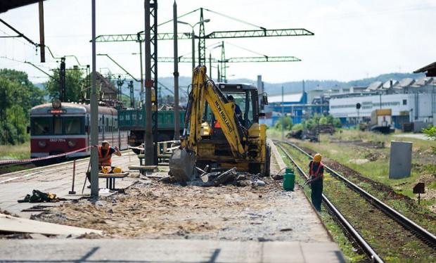Na peronie już rozpoczęły się prace.