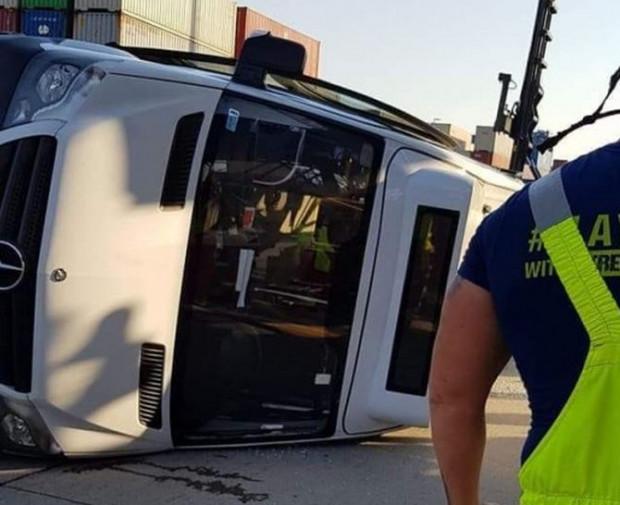 Zdjęcie dokumentujące skutki sobotniego wypadku.