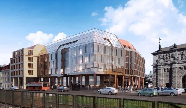 Decyzje dotyczące ewentualnego kształtu nowej zabudowy w miejscu dawnego budynku LOT przesuwają się w czasie.