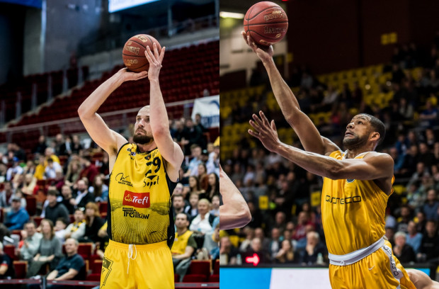 O sile Trefla Sopot i Asseco Arki Gdynia wciąż decydują gracze, którzy tworzyli trzon zespołów w poprzednim sezonie: Paweł Leończyk (z lewej) i Josh Bostic (z prawej).